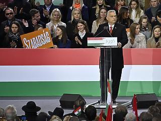 Brüsszelt és a baloldalt ostorozta Orbán Viktor október 23-án is