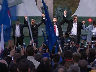 Márki-Zay Péter elmondta, milyen Magyarországot akar - színpadra állt az összes jelölt