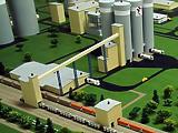 Cementgyár a valóságban és a tervezőasztalon