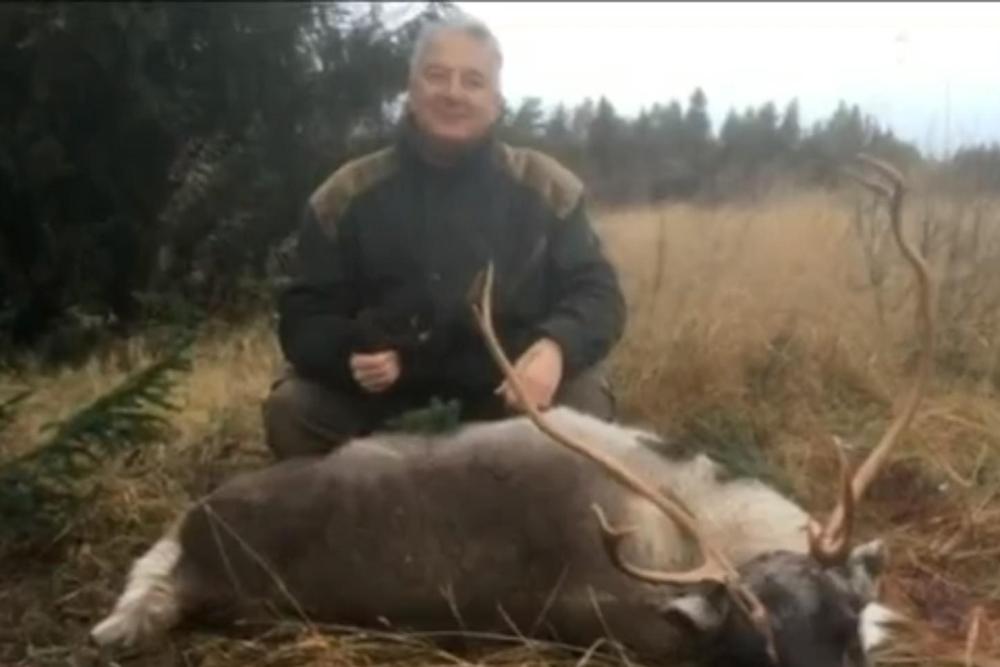 Semjén Zsolt az egyik svédországi vadászatán