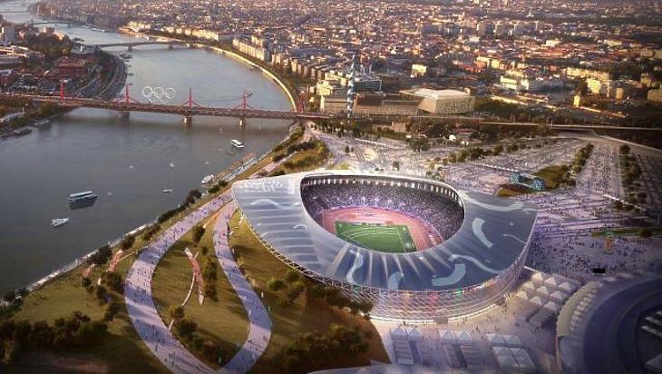 A stadion egyik látványterve (forrás: MTI)