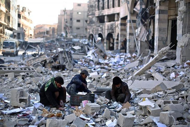 Szíria (Fotó: MTI/EPA/Mohammed Badra)