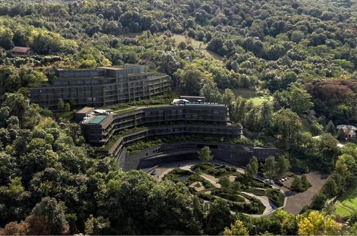 A Visegrádi Hotel a hatástanulmányban szereplő látványterve