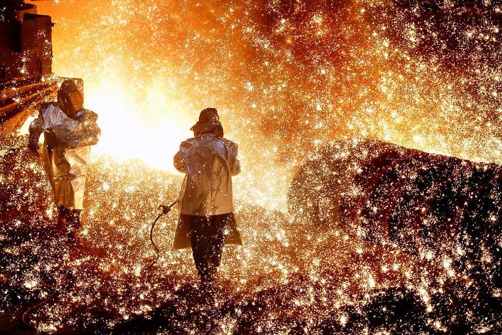A vaskohászat egyre több emissziós kvótát igényelne (Illusztráció - Fotó: Máthé Zoltán/MTI)