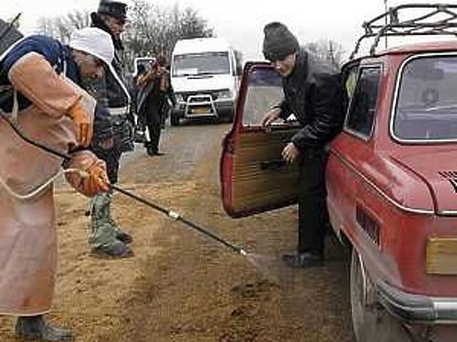 Fertőtlenítés Ukrajnában