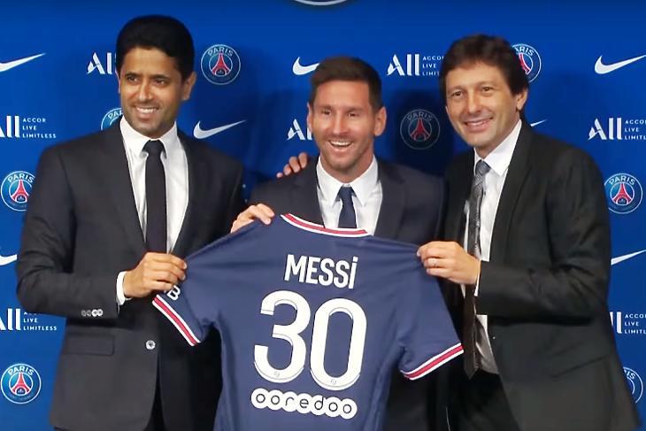 Messi pénzéhez is hozzájárultak (Fotó: PSG/Youtube/Telegraph)