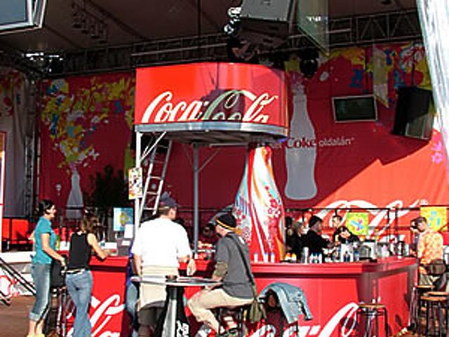 A Sziget Coke oldala
