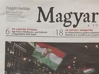 Itt a Magyar Nemzet-utód nulladik számának címlapja