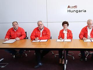 Áll a győri Audi, de a bérmegállapodás megszületett