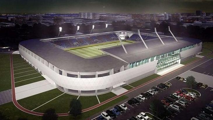 A nyíregyházi stadion látványterve (Forrás: nyiregyhazaspartacus.hu)