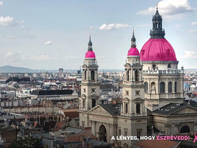 Rózsaszín kupolák lepik el Budapestet