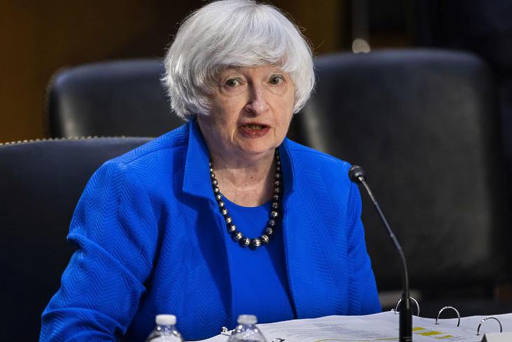 Janet Yellen amerikai pénzügyminiszter szerint hamarosan fizetni fognak az adókerülő vállalatok (Fotó: MTI/EPA/Jim Lo Scalzo )