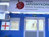 A Kormányinfó előtt megnyílt a Kiskunhalasi Mobil Járványkórház