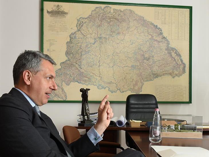 Lázár János kormánybiztos interjú (Fotó: Bánkuti András)
