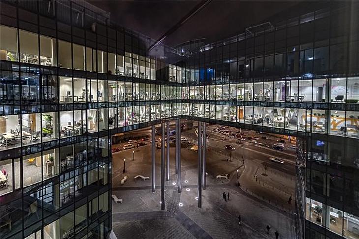 A Magyar Telekom új székháza.(MTI/Szigetváry Zsolt)