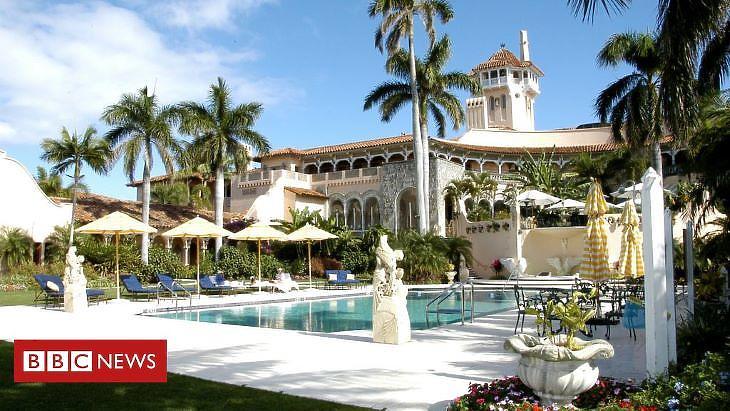 A Mar-a-Lago klub a floridai Palm Beachen (forrás: bbc.com)