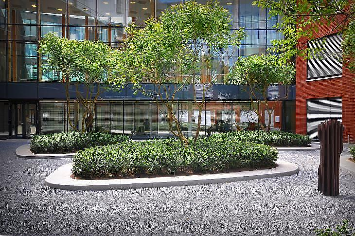 A Bosch kórház egyik látványos része (fotó: MTD)