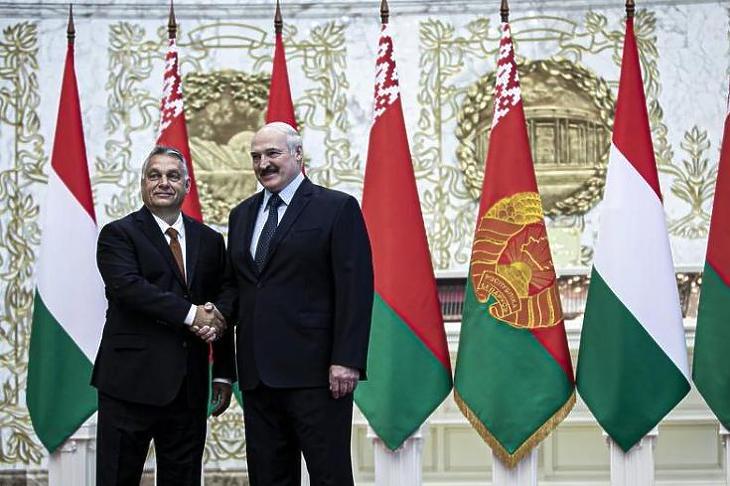 Aljakszandr Lukasenka és Orbán Viktor találkozója Minszkben 2020. június 5-én. MTI/Miniszterelnöki Sajtóiroda/Fischer Zoltán