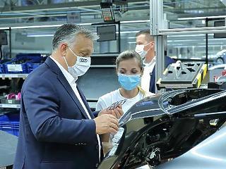 Audi nevű sikersztori folytatását várja Orbán Viktor