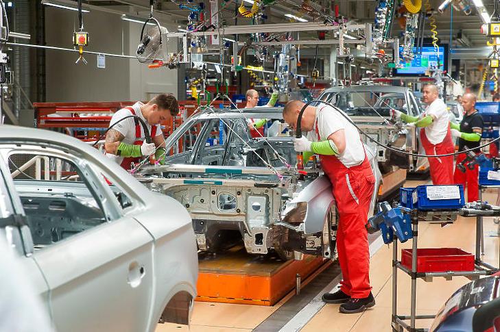 Az Audi Hungária Zrt. győri üzemét is érintette az alkatrészek hiánya (Fotó: MTI - Krizsán Csaba)
