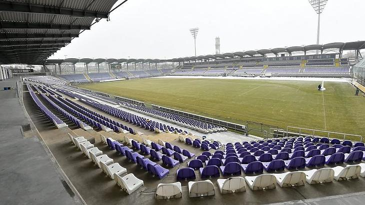Az Újpest stadionja (Fotó: MTI)