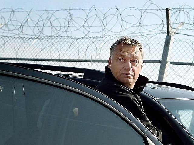 Orbán a kerítésnél (MTI)