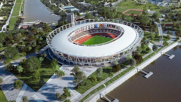 A Csepel északi részén megvalósuló atlétikai stadion látványterve (fotó: Magyar Atlétikai Szövetség)