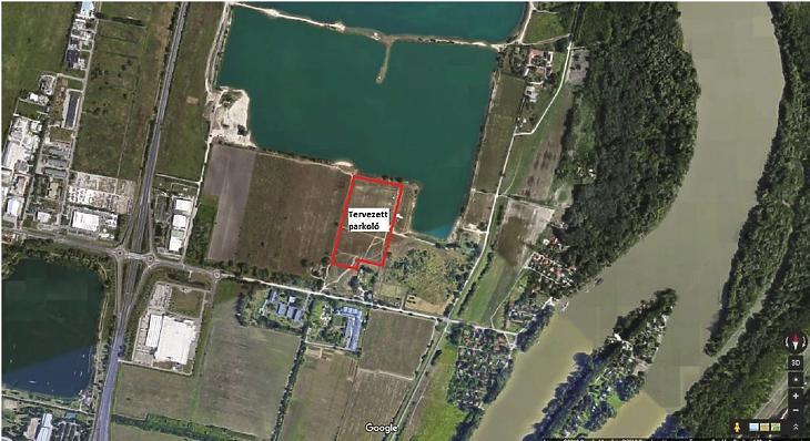 A tervezett létesítmény területe (Forrás: előzetes vizsgálati dokumentáció)