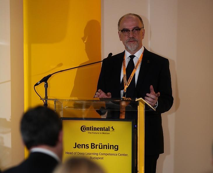 Jens Brüning, a Continental budapesti Mesterséges Intelligencia Fejlesztő Központ vezetője