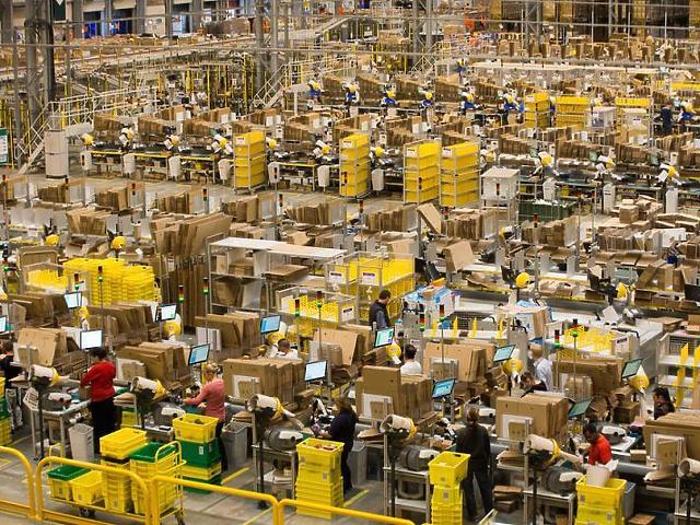 Az Amazon egyik raktára