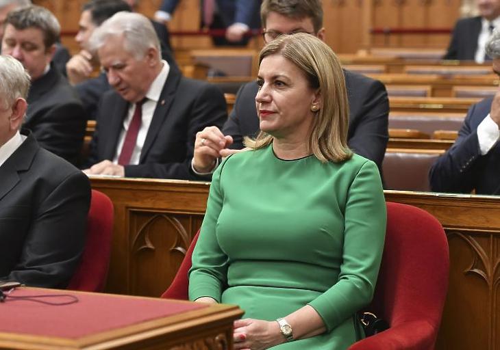 Bártfai-Mager Andrea, a nemzeti vagyon kezeléséért felelős tárca nélküli miniszter (MTI Fotó: Máthé Zoltán)