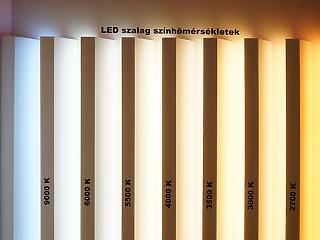 A fehér LED szalagok felhasználása