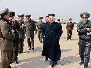Nagy méretű rakéta-sorozatvetőt tesztelt Észak-Korea