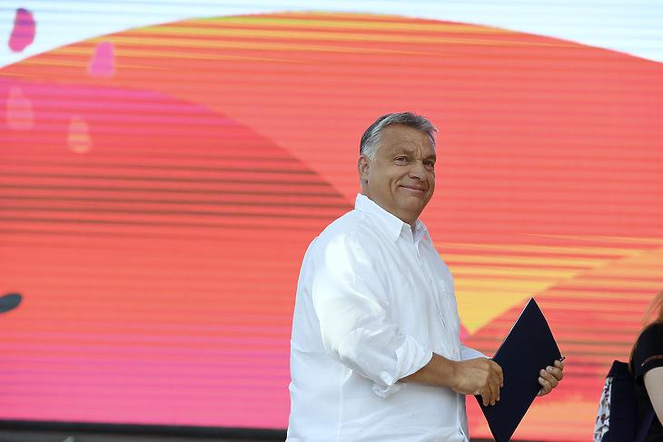 Orbán Viktor Tusványoson. Fotó: MTI
