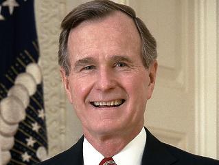 Szobrot kapott az USA 41. elnöke a Szabadság téren