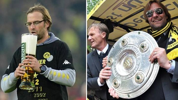 Klopp a Dortmund bajnoki címét ünnepli (sportbible.com)