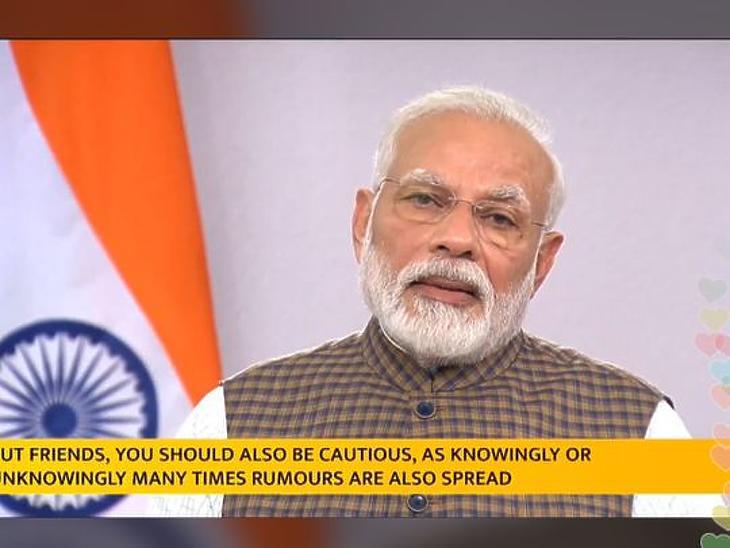 Narendra Modi, indiai minisztelenök bejelenti a kijárási tilalmat