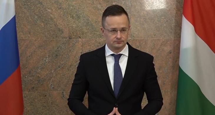 Szijjártó Péter moszkvai sajtótájékoztatója - Forrás: Facebook videó