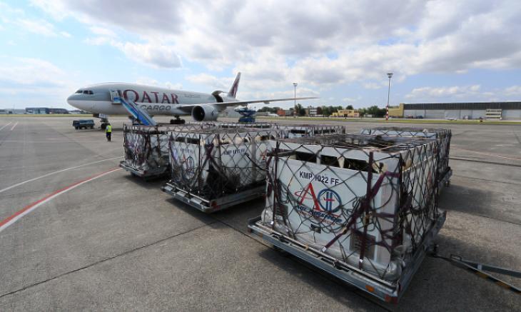 Az utasok ugyan eltűntek, de a cargo terület erősödött (forrás: Budapest Airport)