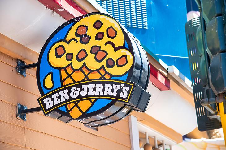 Egy Las Vegas-i Ben & Jerry's fagyiüzlet cégére. Illusztráció. (Forrás: Depositphotos)
