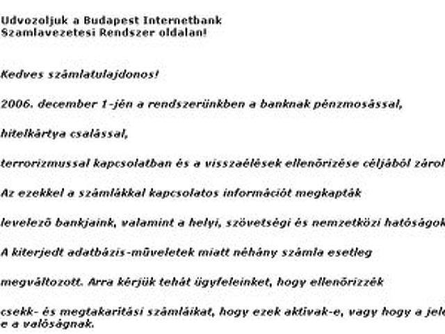 Levél a Budapest Bank nevében