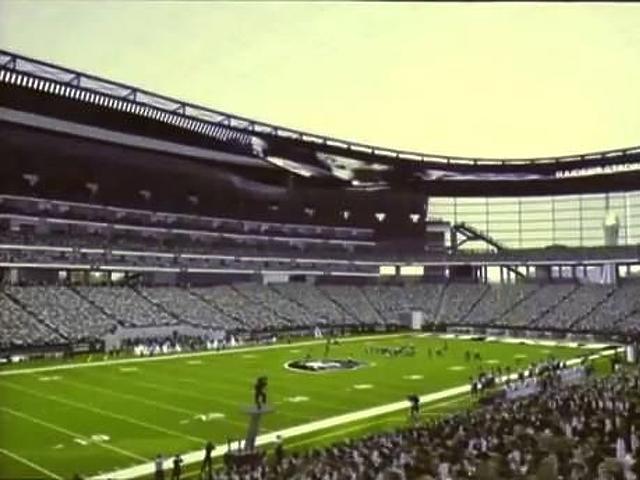 A stadion látványterve belülről
