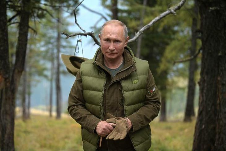 Vlagyimir Putyin orosz elnök (Fotó: MTI/EPA/Alekszej Druzsinyin)