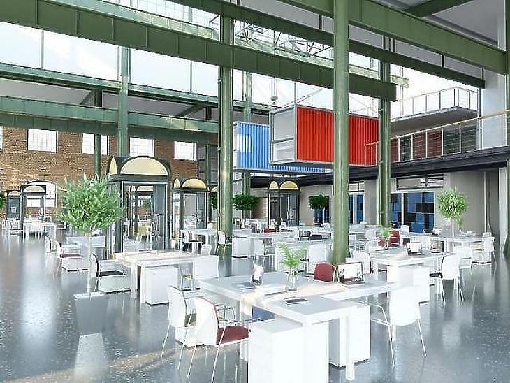A Millenáris Startup Campus belső tere