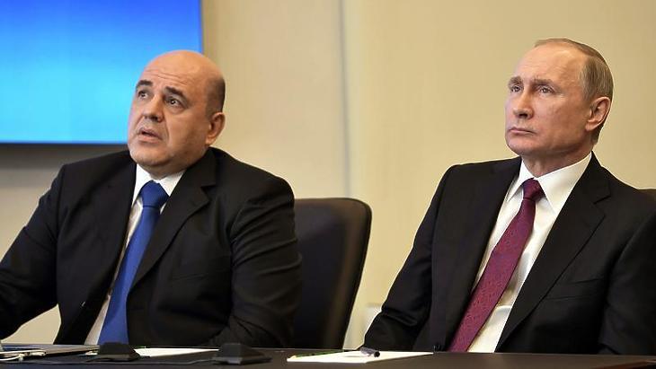 Mihail Misusztyin és Vlagyimir Putyin (Fotó: MTI - EPA)