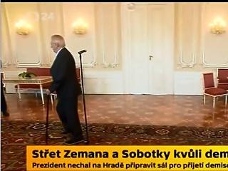 Videó: kamerák előtt különbözött össze a cseh államfő és a kormányfő