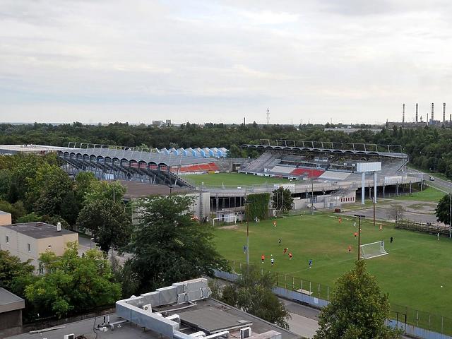 A dunaújvárosi stadion (Fotó: MTI)