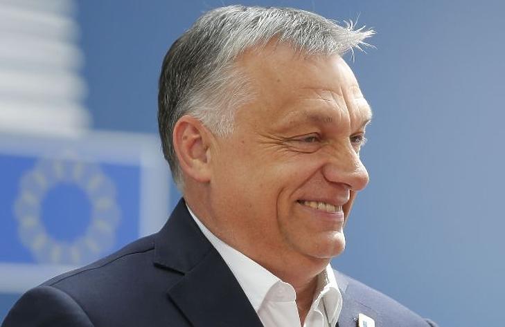 Orbán Viktor elment a falig (Fotó: EPA/Julien Warnand)