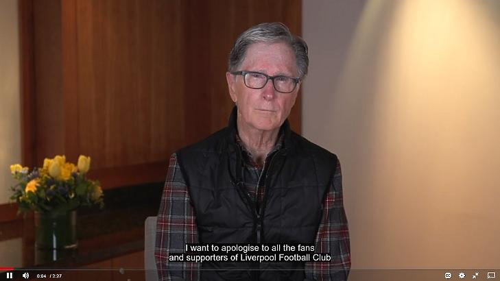 John W. Henry, az FSG és a Liverpool legfőbb tualjdonosa (Forrás: Liverpool.com)