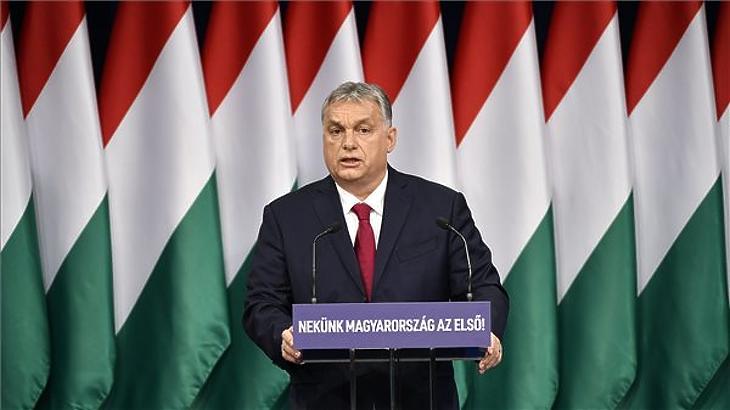 Maga a miniszterelnök tartotta az Operatív Törzs tájékoztatóját a korona vírus helyzetről. Fotó: mfor.hu